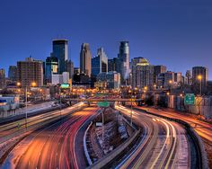 Downtown Minneapolis Skyline At Sunrise