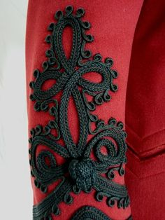 Extravagant Antique Red Jacket, Antique Coat, Antique Cloak, Victorian from antique-gown on Ruby Lane