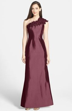 Daymor One-Shoulder Taffeta Gown available at #Nordstrom