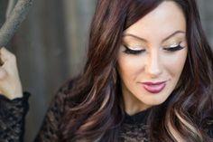 Holiday gold makeup tutorial