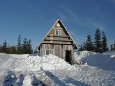 snowshoeing destination......a-branch rotary cabin.. powell river... for public use.. if you can get to it!