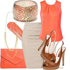 Citrus and honey. Work wear fashion outfit.