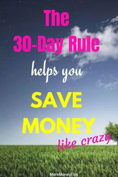 Use the 30 day rule to save money. Avoid impulse buying with this rule. Ways To Save Money, How To Get Money, Money Tips, Money Saving Tips, Managing Your Money, Time Management Tips, College Fun, Budgeting Money, Financial Tips