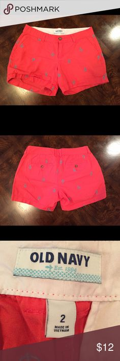 Anchor Shorts Red shorts with blue anchors ⚓️ From Old Navy and in great condition! No trades Old Navy Shorts