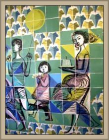 Maria Keil August 1914 – 10 June was a Portuguese artist. She was born in Silves and died in Lisbon. Portuguese Culture, Portuguese Tiles, Portugal, Tile Art, Mosaic Tiles, Tiling, Mosaic Art, Amazing Street Art, Modern Graphic Design