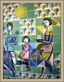 Maria Keil, August 9, 1914 - June 10, 2012, was an amazing Portuguese painter.    Maria Keil , 9 de Agosto de 1914 - 10 de Junho de 2012, foi uma extraordinária pintora portuguesa.