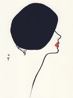 Just love how simple yet intriguing Rene Gruau's illustrations are