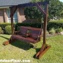Porch Swing with Center Console Plans | MyOutdoorPlans | Free Woodworking Plans and Projects, DIY Shed, Wooden Playhouse, Pergola, Bbq