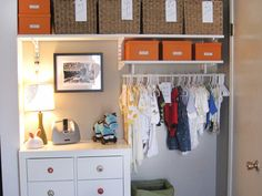 Organizing Kids' Closets