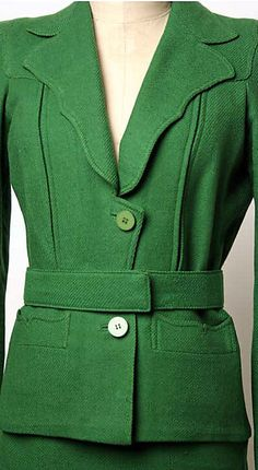 Suit - Marcel Rochas mid-1930's totally inlove with the style and colour