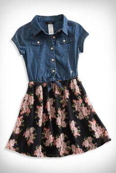 GUESS Kids Little Girl Floral-Print Two-Fer Dress (2-6x) | GUESS.com