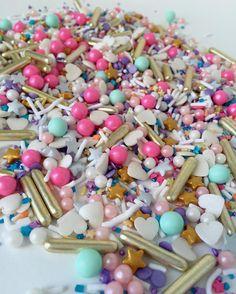 Sprinkles Unicorn Confetti Little Mermaid Parties, The Little Mermaid, Disco Dust, Fancy Sprinkles, Cupcake Cakes, Cupcakes, Lanyard Keychain, Sugar Cake, Disney Crafts