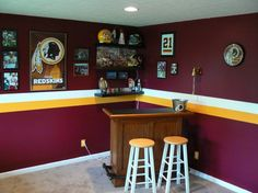 Image Detail for - Thread: My Redskins Man Cave - finally complete