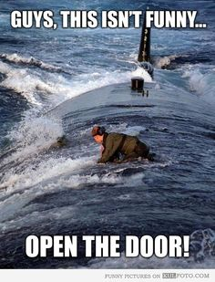 Guys, this isn't funny, open the door!