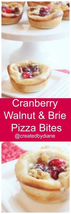 ... cranberry brie and walnut pizza bites cranberry walnut and brie pizza
