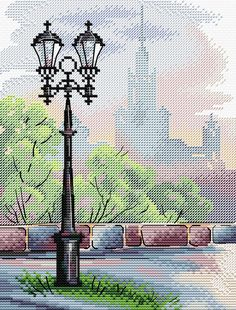 New Unopened Modern Cross Stitch Embroidery Kit Moscow City View by Russian Manufacture MP Studio, Gift Idea Embroidery Needles, Cross Stitch Embroidery, Embroidery Patterns, Cross Stitch Patterns, Cross Stitch Beginner, Simple Embroidery, Modern Cross Stitch, Cross Stitching, Crochet