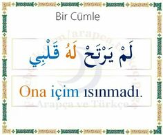 ... Turkish Lessons, Arabic Lessons, Learn Turkish Language, Arabic Language, English Vinglish, Learning Arabic, Beautiful Words, Sentences, Preschool