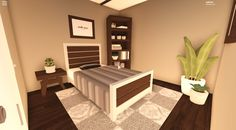 If u play bloxburg here's a modern bedroom idea! Modern Family House, Family House Plans, Bedroom House Plans, House Rooms, Home Bedroom, Modern Bedroom, Bedroom Decor, Master Bedroom, Tiny House Layout