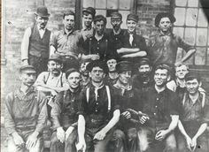 Workers from the Homestead Steel Works, near Pittsburgh, PA.  Many, if not all, were undoubtedly Slovak, Russian, Polish, Rusyn, or Ukrainian immigrants working in the steel mills.