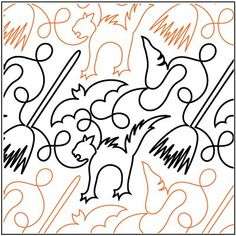 Trick or Treat pantograph pattern by Patricia Ritter of Urban Elementz