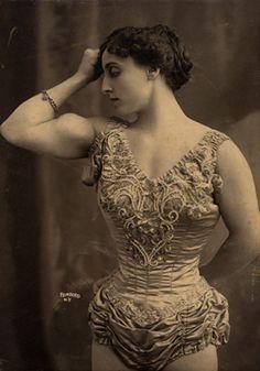 Circus strong woman, 1905