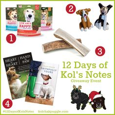 Enter to win Tempt 'n' Tender jerky from Look Who's Happy, custom pet ornaments from Mollie + Alfie, Barkworthies deer antler chews and books for dog lovers by Peggy Frezon US/CAN 12/20 #ContestEntry