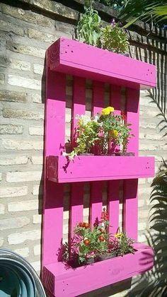 Jardinet aromatique vertical, ça marche aussi avec une palette