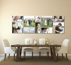 The Canvas Display (digital rendered) that now sits in our dining room for our clients to enjoy. 5 - 10x20's, 4 20x20's, and 1- 10x10 Manifesto Photography | Windsor, Ontario | Wedding Photographers