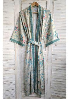 Chantilly Cream - Organic Cotton Long Kimono - New In