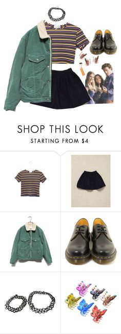 """quarante-deux"" by erinstyle ❤ liked on Polyvore featuring American Apparel and Dr. Martens"