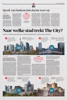 Graphic: Art Direction: Arne Depuydt Assistent Art Direction: Freek De Groote/Joris Van Aken © DeMorgen