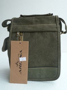 small messenger type canvas bag