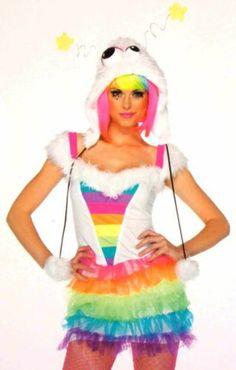 Womens Leg Avenue Starbrite Monster S-M Sexy Halloween Costume Cosplay Dress Hat
