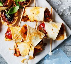 These Mexican inspired party nibbles are filled with spicy chipotle chicken and peppers - make ahead for fuss-free entertaining
