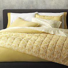 Tiago Stonewash Yellow Duvet Covers And Pillow Shams