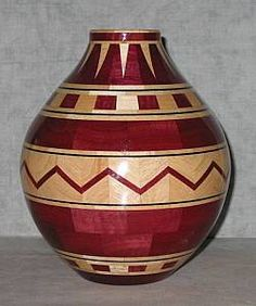 segmented vase woodturning