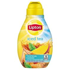 Lipton Tea and Honey Liquid is a liquid iced tea mix that has a refreshing, great taste because it is sweetened with honey, made from real tea leaves and real fruit flavors. Liquid Ice, Iced Tea Mix, Lipton Ice Tea, Delish, Raspberry, Mango, Favorite Recipes, Tropical, Gender