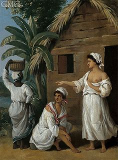 Caribbean Women In Front Of A Hut Agostino Brunias African American Art, African Art, African Prints, Prado, Colonial Art, Caribbean Art, Old Paintings, Landscape Paintings, Historical Art