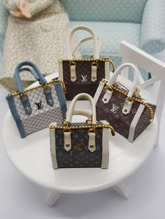 Miniature Handbag pendant • miniature • Fashion jewelry • Jewelers • miniatures •1/12 Scale Dollhouse Miniature handmade designer Bag Lady Dior, Michael Kors Hamilton, Louis Vuitton Speedy Bag, Miniatures, Etsy, Trending Outfits, Pendant, Unique Jewelry, Handmade Gifts