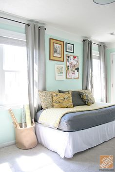 pretty bedroom. do I even need a side table?