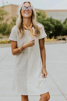 Navy Stripe Dress | ROOLEE