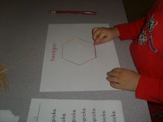 Chipman's Corner Preschool: Toothpick shapes. A multiple day activity that increases shape awareness and uses writing.