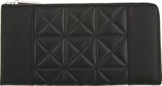 3.1 Phillip Lim black leather grid travel wallet | reg $325, sale $162