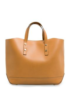 MANGO leather shopper