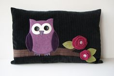 Owl Pillows by Renee63, My sewing space