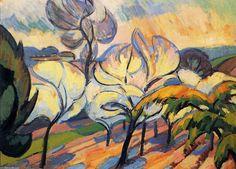 'arbres dans floraison', peinture de Andre Lhote (1885-1962, France)