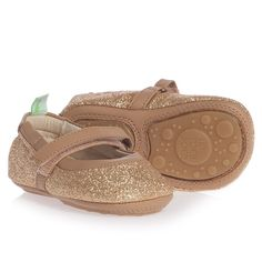 Girls Gold Glitter Leather Toddler Shoes - First Walkers - Baby & Toddler - Shoes   Childrensalon
