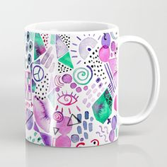 Abstract Universe Coffee Mug #illustration #mug #watercolor #drawing #abstract #universe #happy #positive #energy