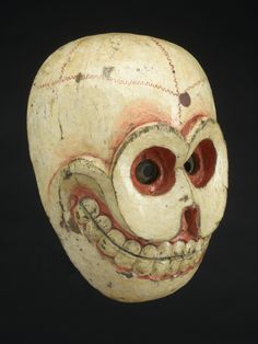 Wooden mask, Bhutan, 1850-1920 - Art Curator & Art Adviser. I am targeting the most exceptional art! See Catalog @ http://www.BusaccaGallery.com