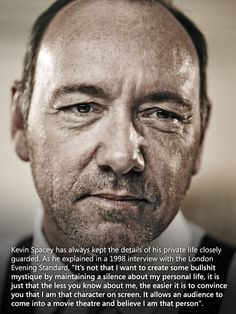 why kevin spacey maintains privacy
